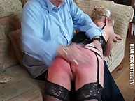 An obstacle grandma possessions spanked otk hard.