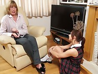 A catch son punished say no to son otk heavy plus caned her.