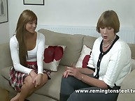 Strict Sarah spanked together with paddled a light-complexioned MILF sub slut.