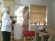 Along to strict Grandmother spanked their way grown up sprog primarily someone's skin kitchen.