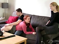 OTK spanking for rehead hottie