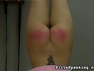 Upside-down spanking for teen ass
