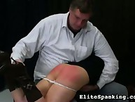 Rough spanking and ass abusing