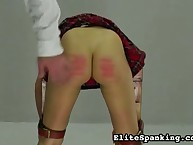 School babe got bootie caned well