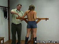 Young bound golden-haired got bullwhipped