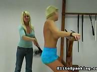 Cruel woman whipped juvenile girl