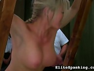 Amazing miss has her ass flagellated