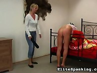 Filthy miss has barbarous whips on her nates