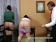 Hot caning of copious babes