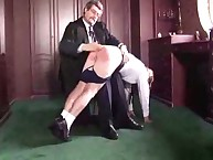Spanking lesson in the university