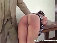 Cool home spanking with sexy babe
