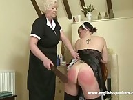 Spanking education from granny
