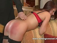 English babe gets paddled on audition