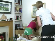 Mother punished her naughty daughter