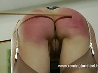Amazing miss has her posterior welted