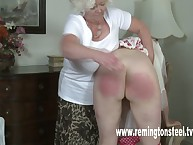 Old couple flogged young slut