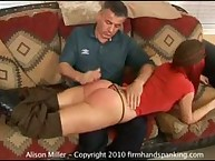 Boot Camp style bare bottom spanking for Alison Miller - time to teach that brat!