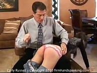 Carly Russell learns the hard way with a sore bottom