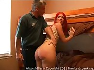 Alison Miller's 6am wakeup call - a bare bottom spanking in Boot Camp…