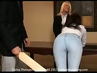 Spanking education with screamed Carina Thompson