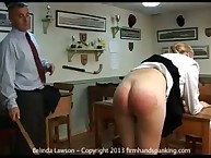 12 strokes punishment for Belinda Lawson