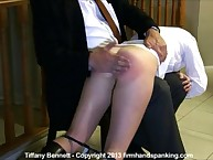 OTK spanking for blond schoolgirl