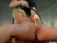 Pussy mount and whipped hard