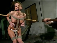 Hardcore bondage and hot whipping