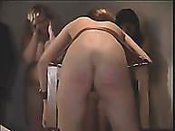 Lupus Spanking. Cane naked asses