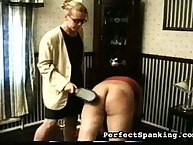 Blond mistress spanking big asses