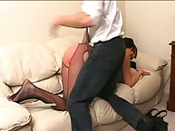 Big halfwit spanked hush up paddle