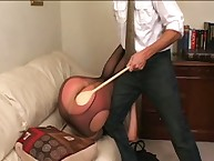 Big ass spanked with paddle