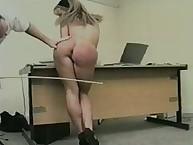 Bigass secreatary got different spanking