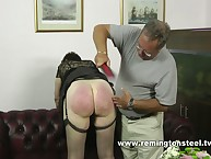 Paddled for masturbation