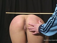 Brill brunette lady was caned