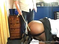 Big black booty was flogged