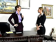 Dame was spanked in her office