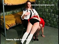 Salacious lady has brutal spanks on her ass