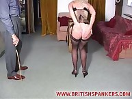 Voluptuous girl gets pitiless spanks on her buns
