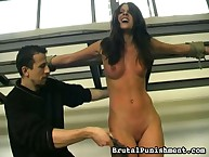 Whipping training for hawt girl