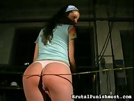 Teen with cool ass was caned