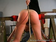 Caning duty screen crowing unbolted girl