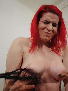 4 of Tortured nipples and whipped breast
