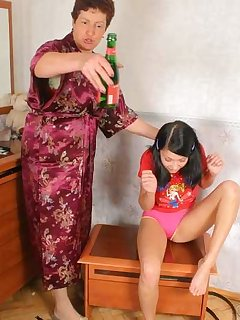 20 of Old mother spanks teen daughter