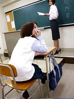 16 of Japan school girl gets spanked