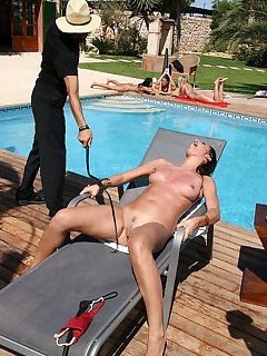 18 of Whipping of hot tits and clit