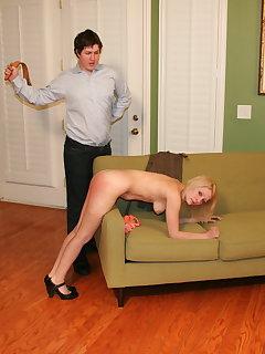 8 of Julie spanked strapped